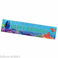 2.7m Disney Pixar's Finding Dory HAPPY BIRTHDAY Party Holographic Foil Banner
