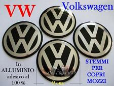4 VOLKSWAGEN VW NERO Coprimozzi Tappi Cerchi Wheels 9 cm 90 mm GOLF POLO BEETLE
