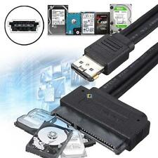 "HOT 12V 5V Dual Power eSATA USB Combo to 2.5"" 3.5""22Pin SATA Hard Disk Cable  SS"