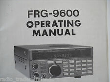 YAESU FRG-9600 (GENUINE INSTRUCTION MANUAL ONLY).........RADIO_TRADER_IRELAND.