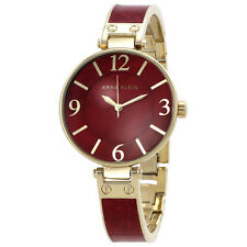 Anne Klein Red Mother of Pearl Dial Ladies Watch 2210BMGB