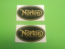 NORTON vintage MOTORCYCLE STICKERS DECALS X2 cafe racer