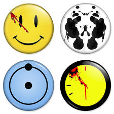 "Watchmen - 4 x Combo Set 25mm 1"" Pin Badges Dr Manhattan Rorschach Comedian"