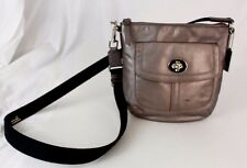 Authentic Coach Bronze Leather Small Cross-body Shoulder Bag Handbag