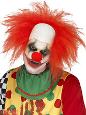 Adults Deluxe Red Clown Wig Mens Horror Halloween Circus Fancy Dress Accessory