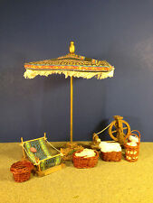 "Fontanini WEAVING ACCESSORY SET 5"" Village Nativity No Box Combine Shipping!"