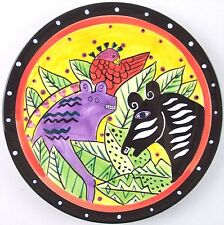 Laurel Burch Jungle Collector Plate Salad Dessert Henriksen Imports 1998