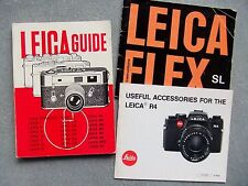 LEITZ LEICAFLEX SL & R4  MANUALS. 2 IN ALL + LEICA GUIDE