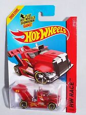 Hot Wheels 2014 New Release Int'l Board HW Race X-Raycers #175 Rig Storm  Red