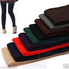 Women Lady Girls Warm Winter Slim Leggings Thick Stretch Footless Multi Color