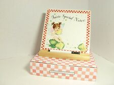 MY LITTLE KITCHEN FAIRIES WITH LIME MEMO PAD #114496