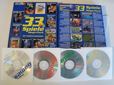 Mega-Pack 33 DOS Vollversionen auf PC CD-Rom Eishockey Manager Turrican usw. BOX
