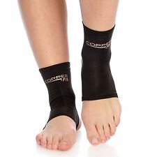 CopperFit One Pair of S Copper Infused Ankle Sleeves Black NEW