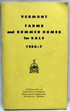 VERMONT FARMS & SUMMER HOMES FOR SALE DIRECTORY BROCHURE GUIDE 1956 VINTAGE