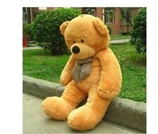 47'' Giant Big brown Teddy Bear PLUSH TOYS COVER SHELL (WITH ZIPPER) Xmas gift