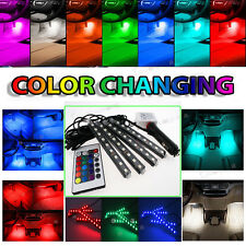 Colorful LED Interior Kit Glow Under Dash Foot Well Seats Inside Light For BMW