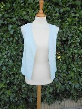 Real Sheepskin Leather powder blue waistcoat H&M  in 8 super soft & super luxury
