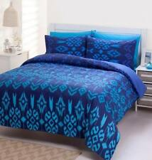 Caspian Navy 225TC Percale KING Size Quilt Doona Cover Set