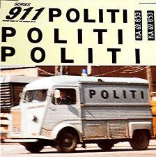 Citroen HY Politi Denmark 1965 Polizei Fahrzeuge 1:43 Decal Abziehbild