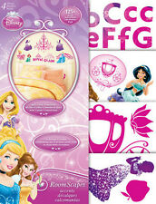DISNEY PRINCESSES wall stickers over 120 decals roomscapes decor letters Ariel +
