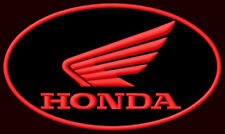 """HONDA WING OVAL EMBROIDERED PATCH ~5-5/8"""" x 3-1/4"""" MOTORCYCLE VTX CBR VALKYRIE"""