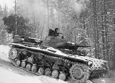 WWII B&W Photo German Panzer III in Snow 1942  WW2  / 4093  NEW