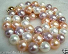 """AAA+ 8MM Multicolor South Sea Shell Pearl Necklace 18"""""""