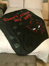 Emily the Strange Goth PLUSH throw  Don't Cross My Path Black Cat Goth NEW