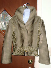 Baby Phat Faux Fur Bomber Jacket Cozy Women Sz S