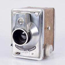 # Vintage Snakeskin & Brushed Steel R. F. Hunter Gilbert Film Box Camera (#450)