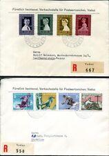 LIECHTENSTEIN 1955 334-341 SCHÖNE FDC 115€(J7777