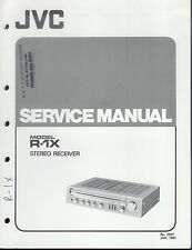 Original Factory JVC R-1X Stereo Receiver/Tuner Service Manual