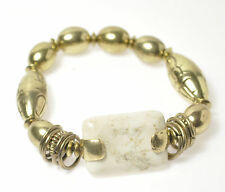 NEW LADIES GOLD COLOURED ANTIQUE STYLE BRACELET WITH CREAM STONES