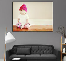 """Personalised LARGE A1 30"""" x 20"""" Your Picture Photo Print on Canvas, High Quality"""