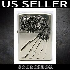 New Japan Korea zippo lighter A-TIGER CLAW NA armor nickel antique emblem