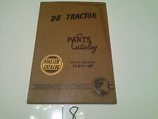 CATERPILLAR D8 TRACTOR TORQUE CONVERTER DRIVE PARTS MASTER CATALOG 14A1-UP