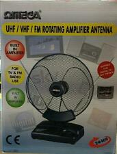 Omega 24466 Indoor TV Amplified Antenna UHF/VHF/FM Digital TV/Set Top Box