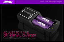 Efest SODA Charger 2 Bay Multi-Functional + 2 x IMR 18650 Batteries 3000mAh 35A