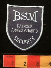 BSM Security Patrols Armed Guards Officer Patch 64Z8