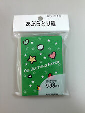 DAISO JAPAN OIL BLOTTING PAPER 300 PCS (3 COLORS) MADE IN JAPAN