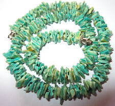 PRETTY VINTAGE 1950s Natural SHELL Green BEAD Costume Jewellery NECKLACE