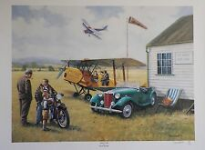 "RARE Kevin Walsh PRINT Aero Club NUMBERED LTD EDITION ""MG-TD"" CAR ART"