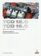 Prospekt Deutz Motor TCD 12.0 16.0 Industriemotor 3 10 2010 brochure engine