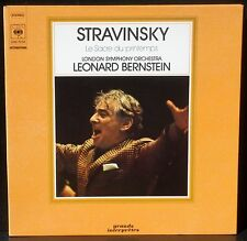 Stravinsky Le Sacre du printemps Bernstein London SL CBS 76104 LP EX, CV NM