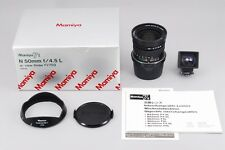 TOP MINT Mamiya N 50mm f4.5 L w/ Optical Viewfinder for Mamiya 7 II from Japan