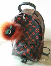 AUTH LOUIS VUITTON Palm Springs Backpack Infrarouge Monogram PM Red New M41458