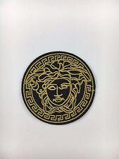 Vintage Black/Gold Medusa Face - Iron on Embroidered Patch  US SELLER!!