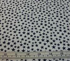 SMALL STARS NAVY BLUE ON WHITE COTTON QUILT FABRIC