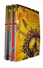 H G Wells 3 Book Pack Science Fiction SF Masterworks Time Machine +2 New