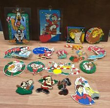 Disney Vintage Retro Lot 27 Christmas Ornaments Lion King Little Mermaid Figaro